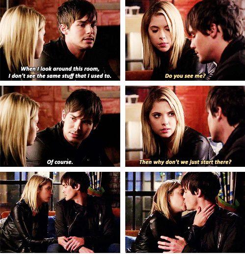Ashley Benson (Hanna Marin) & Tyler Blackburn (Caleb Rivers) - Pretty Little Liars HALEB!