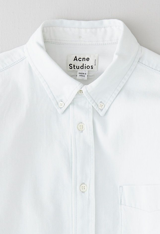 Clean white buttondowns #acne #menswear #style