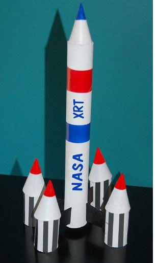 Make a Cardboard Rocket.....http://www.cardboardhouse.co.uk......