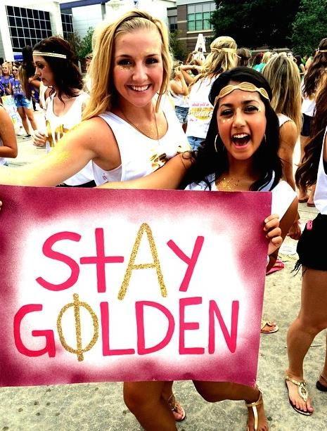 ALPHA PHI | ECU | Bid day 2014 | We Struck Gold in Carolina