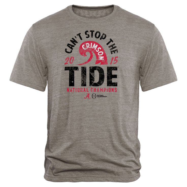 Alabama Crimson Tide College Football Playoff 2015 National Champions Running Back Tri-Blend T-Shirt - Heather Gray - $21.84
