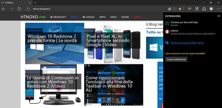 Come aggiungere Estensioni in Microsoft Edge non presenti in Windows Store