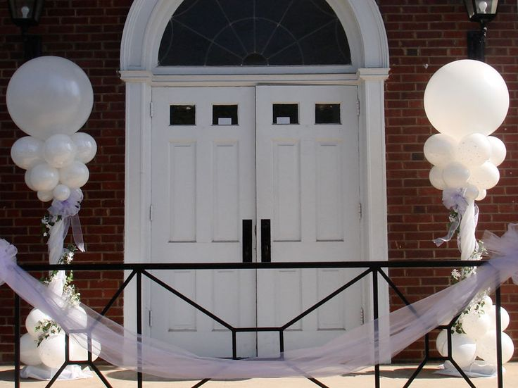 42 best engagement decorations images on pinterest engagement outside your church balloons welcome your guests wedding balloon decorationswedding junglespirit Image collections