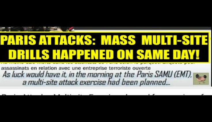 Emergency Drills Took Place On Morning Of Paris Terror Attacks: Report.  The plot thickens.  HMMM they new them ahead of time.  Now they had an emergency drill morning if attack.  Interesting.
