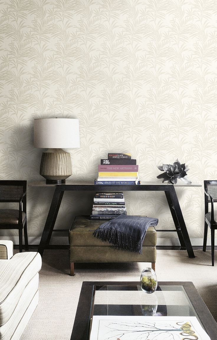 A beautiful natural wallcovering with graceful leaves