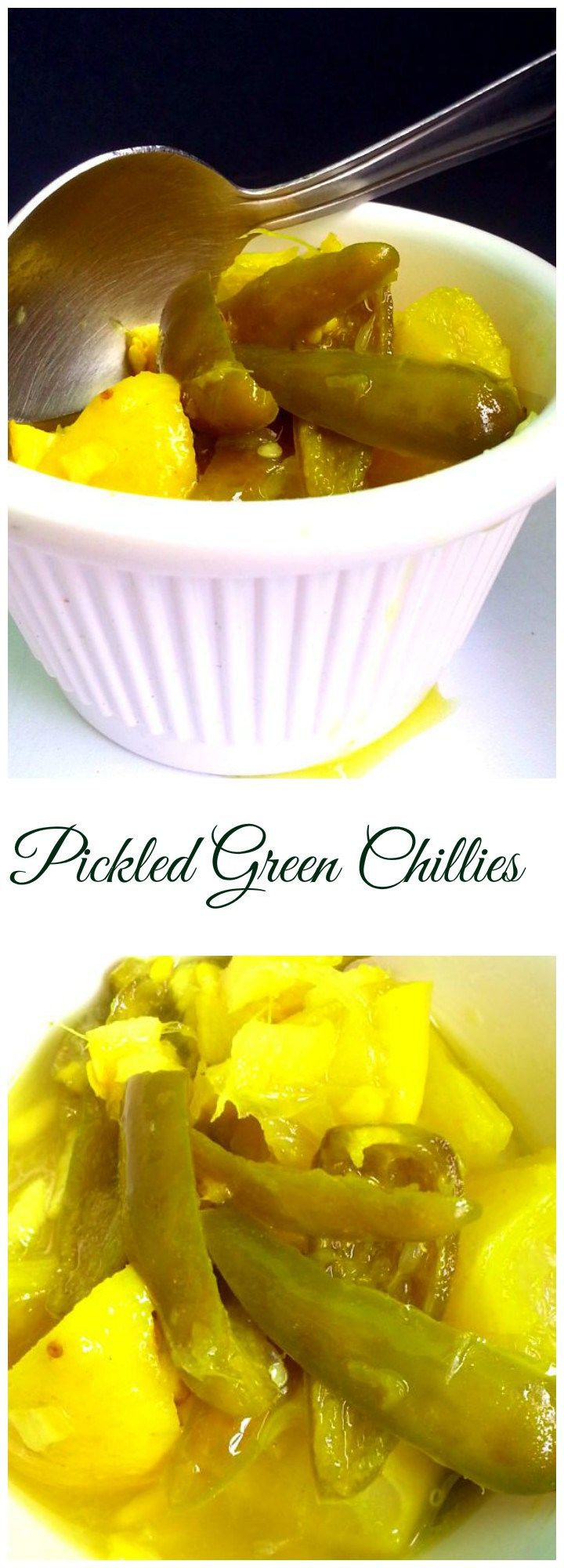 Pickled Green Chillies, Lemon Chilli : A tasty, spicy and sour lemon pickle. The…