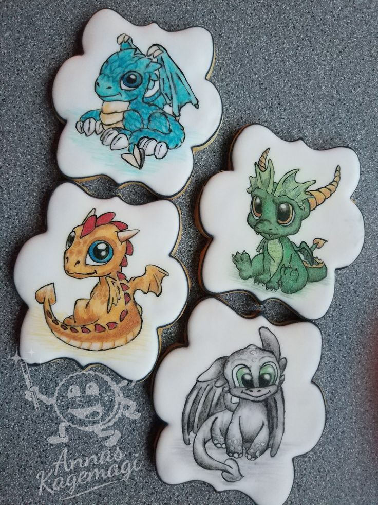 handpainted sugar cookies. I found the images here on pinterest and copied them over with my projector and painted with gel colors