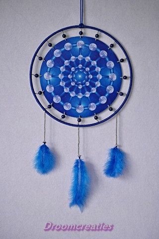 Mandala dreamcatcher Atmosphere with lapis lazuli by Droomcreaties, €35.95