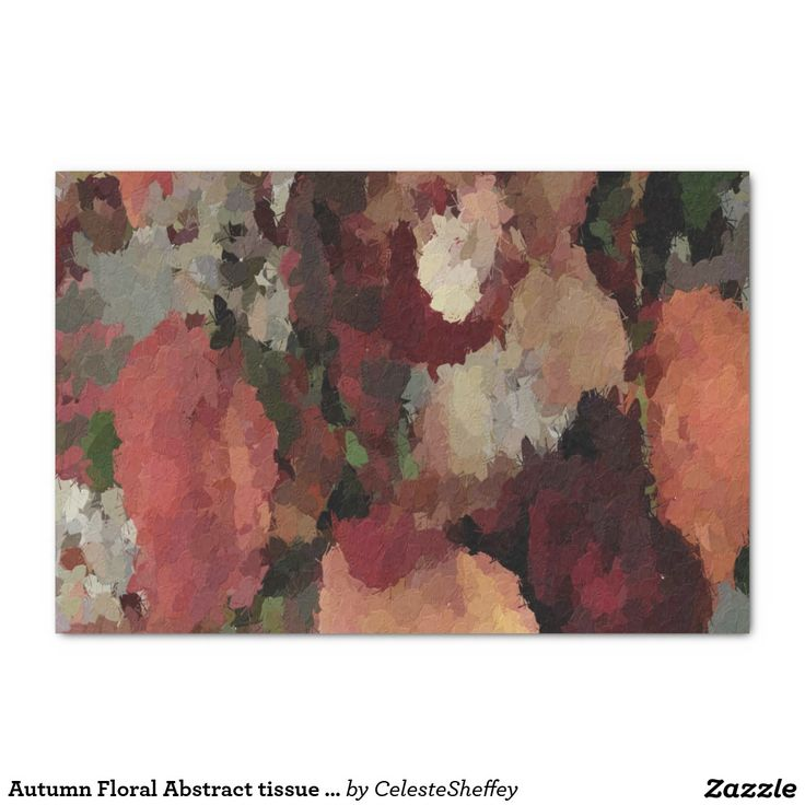 "Autumn Floral Abstract tissue paper 10"" X 15"" Tissue Paper"
