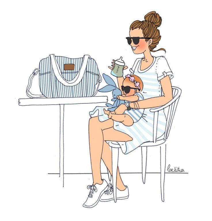 #bonpoint #maman #illustration #laetitiamanela #biberon #avent #philips #bébé