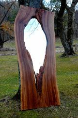 """through the tree"" live edge mirror Daniel Oates for dbO Home"