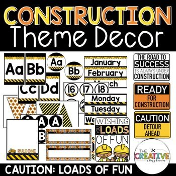 Construction Theme Classroom DecorUnique classroom themes create a welcoming learning environment for all your students and parents. Your classroom can be clean, neat and matching on every single wall and shelf. Take your classroom and turn it into a construction learning zone where your student's minds are always under kidstruction!