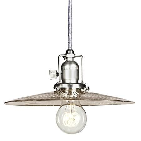 Mercury glass pan industrial pendant shades of light