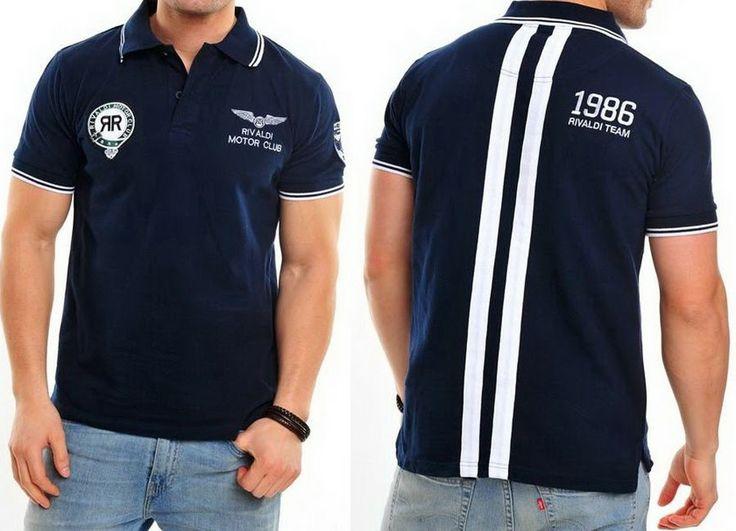 JeansCompany24: Rivaldi Polo-Shirt Freizeithemd Blau Extrem Maclac...