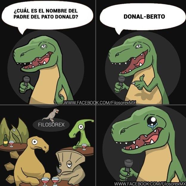 No fue un asteroide en Yucatán, fue éste chiste el que acabó con los dinosaurios. | 15 Chistes malísimos pero buenísimos de Filosorex para extinguirte de risa