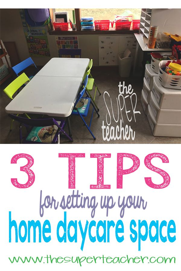 3 Tips for Setting Up Your Home Daycare Space - Creating an efficient day care room can make or break your day!  Read the post on the blog to see my top 3 tips and why they're so important.