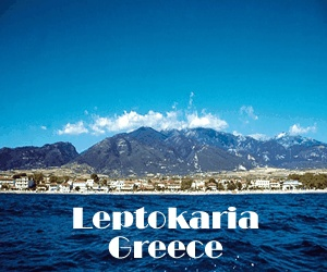 Leptokaria is right next to Mt. Olympus