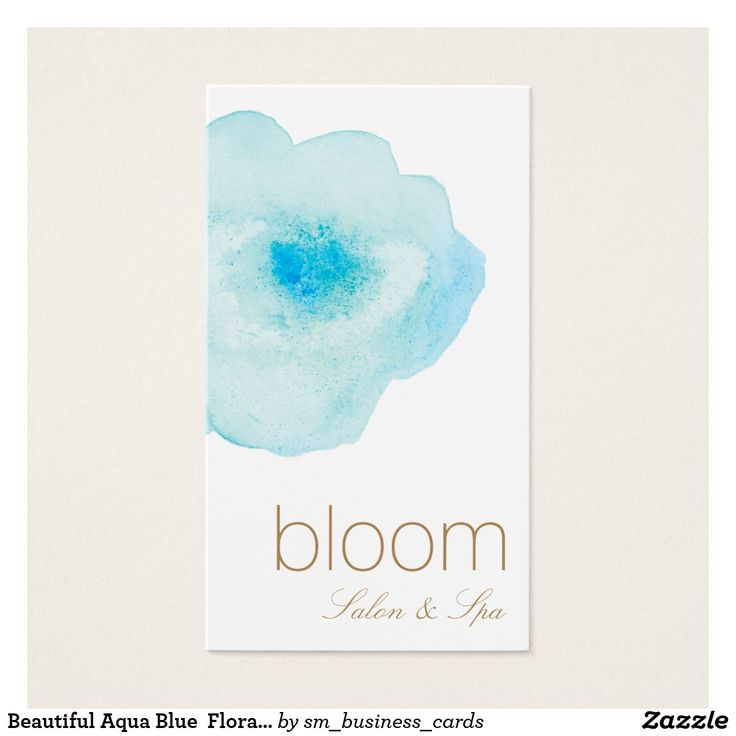 764 best fashion and beauty stylist business cards images on pinterest beautiful aqua blue floral watercolor salon spa business card reheart Image collections