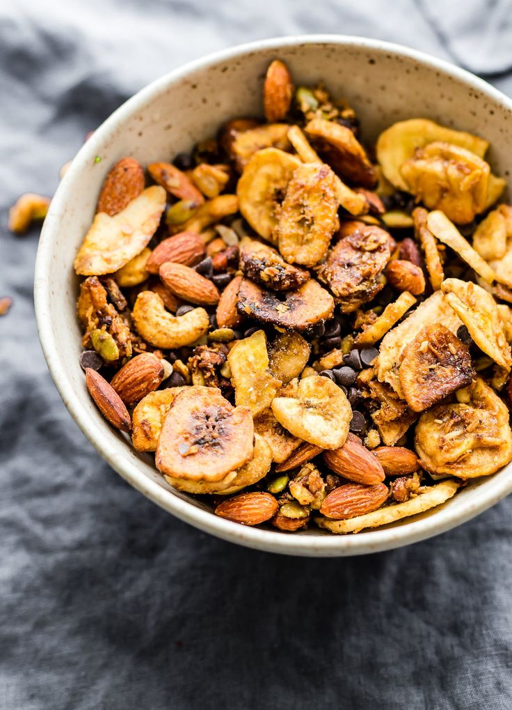 paleo chunky monkey trail mix - crock pot