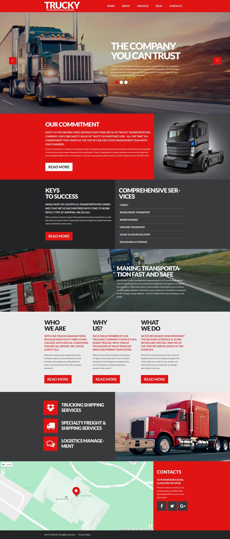Buy this responsive logistics wp theme to build a functional business website and boost profit