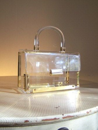 1950s lucite box purse from Southern Bella Vintage