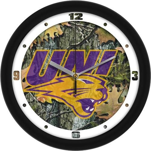 University of Northern Iowa Camo Wall Clock
