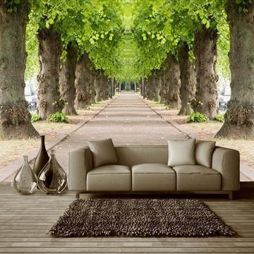 3d Effect Forest Road Wallpaper Mural For Living Room Muurschildering Behang 3d Behang Kamer Behang