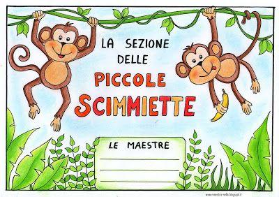 maestra Nella: Per la porta della sezione: le scimmiette!