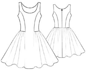 #5196 Short dress.  I love the seams in the bodice.   **PDF Pattern**  THERE HAVE BEEN LIKE A BAJILLION PEOPLE WHO REPINNED THIS!  HAS ANYONE ACTUALLY MADE IT?