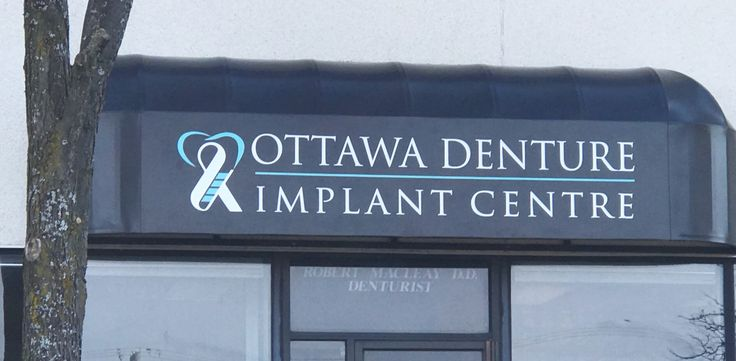 Ottawa Denture and Implant Centre Awnings completed by Speedpro Imaging Ottawa.