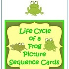 Free Life Cycle of a Frog Picture Sequence Cards #science #frogs