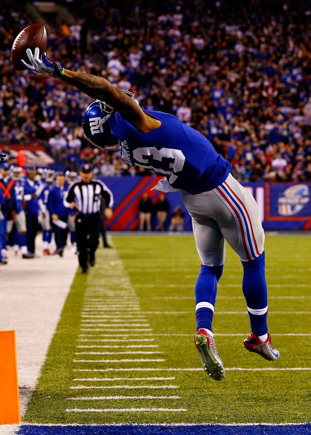 Odell Beckham Jr.'s Incredible One-Handed Catch Might Be the Best in NFL Historyu2014Watch!  Odell Beckham Jr., New York Giants