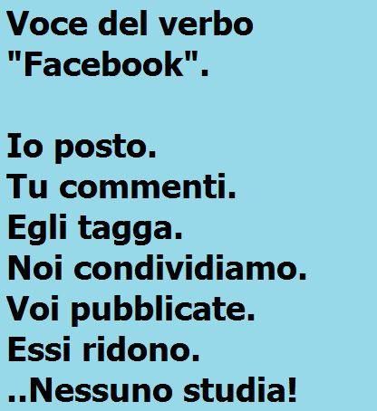 """Voce del verbo """"Facebook"""""""