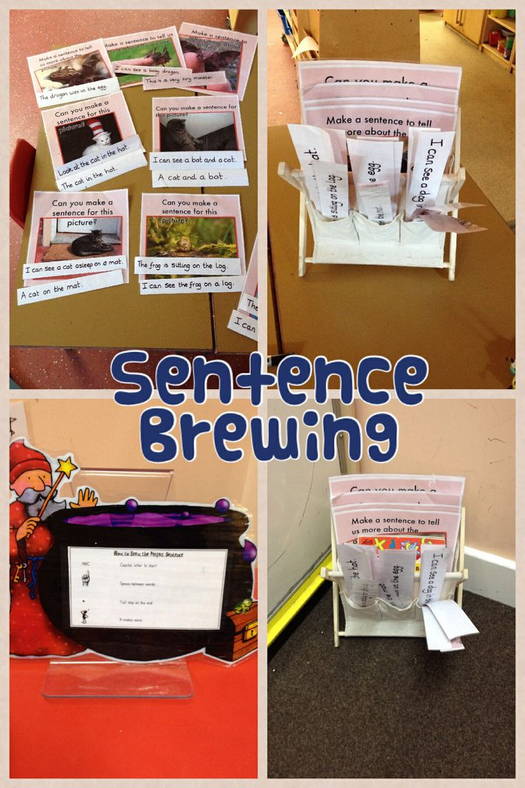 Writing props for sentence writing in our literacy area