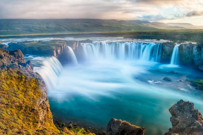 Godafoss is a very beautiful Icelandic waterfall. It is located