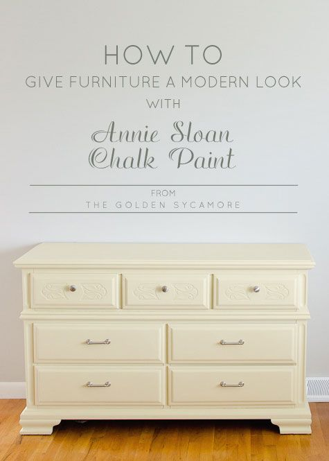 How To Give Furniture a Modern, Non-Distressed Finish with Annie Sloan Chalk Paint - for bookcase