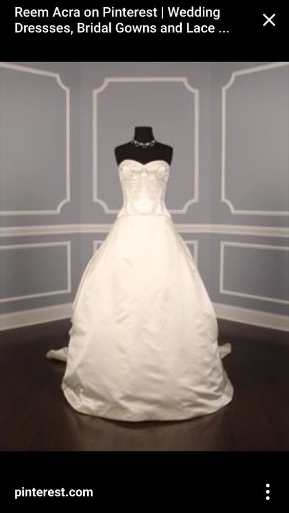 Brand New Reem Acra Wedding Dress Strapless 10 Fashion Clothing