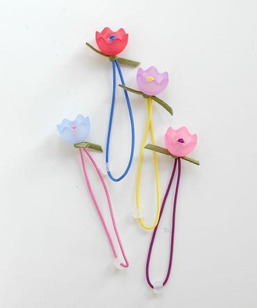 tulip ponytail set of 4