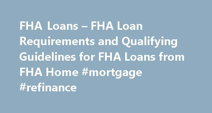 Best refinance options for fha loans