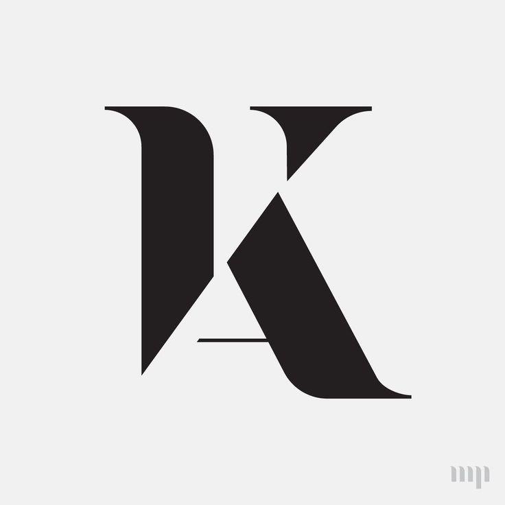AK monogram print