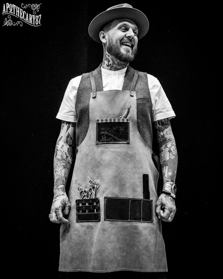 """We have always said there are four things we want to achieve. One of those, is """"Quality"""". Thanks to @dukeandsons, we had an amazing leather barber apron for our event this weekend, and we are thinking of doing a limited run of 10 of these. Who would..."""