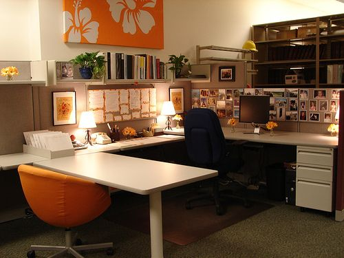 105 best home office work cubicle ideas images on for How to decorate my desk at work