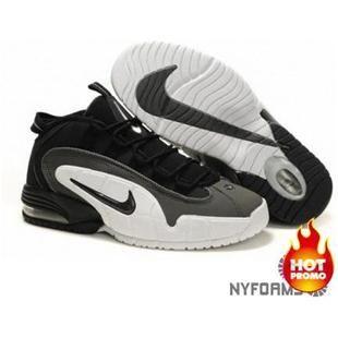 http://www.asneakers4u.com/ Nike Air Max Penny 1 Black Dark Grey White Sale Price: $66.60