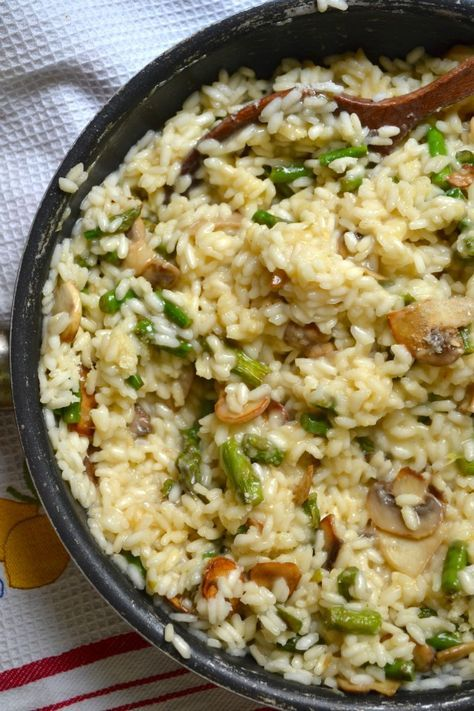Risotto with Asparagus and Mushrooms