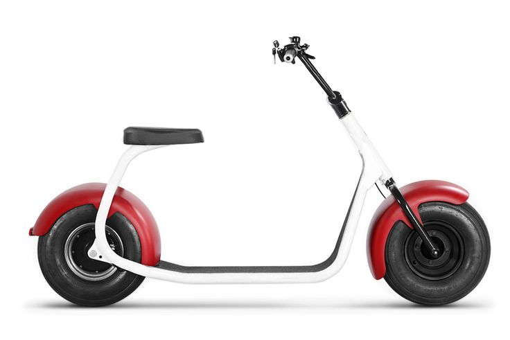 SEEV-800 Electric Lifestyle Fat Tire Scooter 800w Hub Motor E-Bike Bicycle (White-Red). Travel in upwards of 50 miles per charge. You don't pay for gas, no DMV fees, no insurance premiums, street legal. and no license required! (check with your local laws). Self-balancing.The fat/wide tires keep this scooter balanced all on it's own. Even though a kick stand comes equipped, you won't really need it. Steering is kept at a minimum as you lean into your turns. But don't worry, you can stop on…