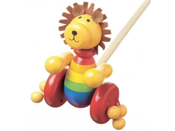 Push Along Wooden Lion