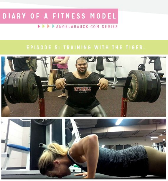 Diary of a Fitness Model Episode 5: Training with the Tiger.