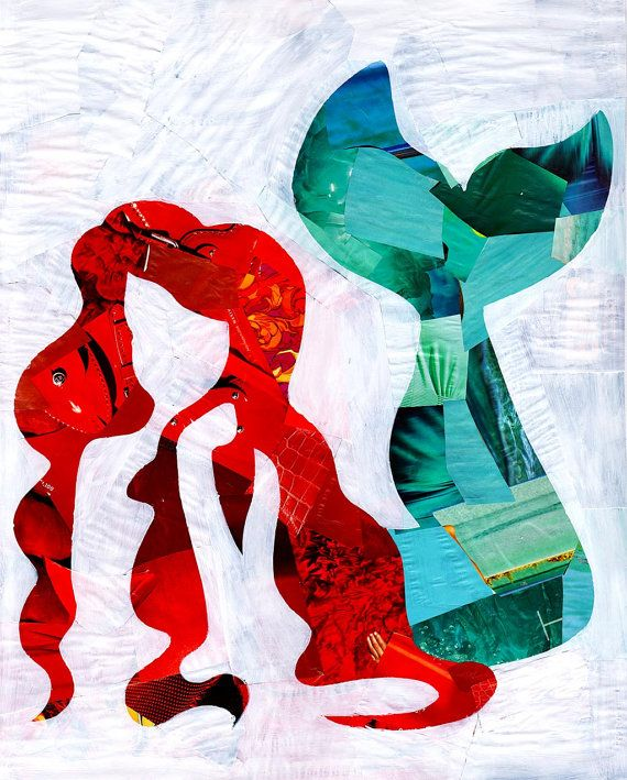 The little mermaid wall art print Ariel print Disney by ArtPopTart