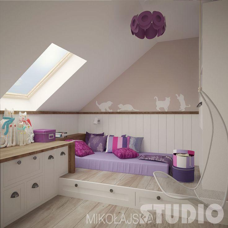 Pokój dla dziewczynki w stylu vintage