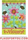 Polka Dot Flowers Garden Flag